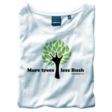 Nigel`s Eco Store More Trees White Eco T-Shirt - light soft and product image