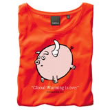 Nigel`s Eco Store Pigs Red Eco T-Shirt - light soft and silky product image