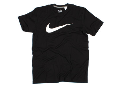 Nike Athletic Department Swoosh T Shirt Black White