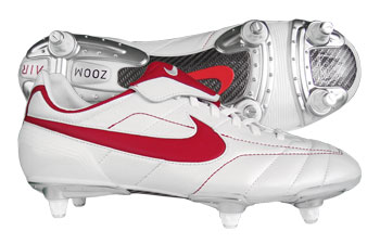 Nike Football Boots Nike Air Legend SG Football Boots White / Red Kids