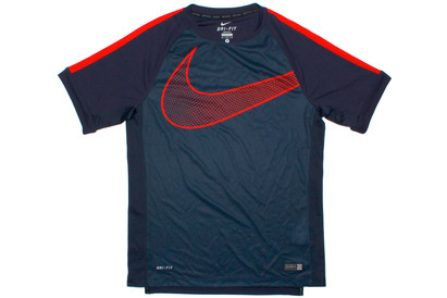 Nike GPX Flash S/S Training T-Shirt Obsidian/Fuschia product image