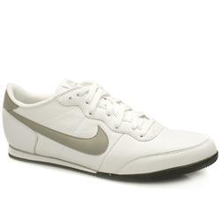 Nike Male Track Racer Leather Upper Fashion Trainers in White and Grey