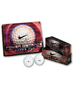 Power Distance Super Fly 12 Golf Ball Pack
