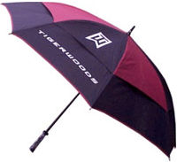 Tiger Woods Auto Open Umbrella Maroon