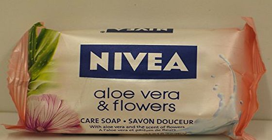 Nivea 12 X BARS OF NIVEA ALOE VERA amp; FLOWERS CARE SOAP 12X90g