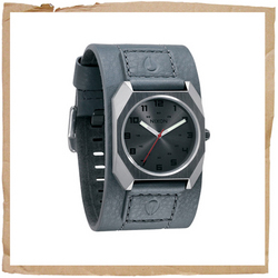 Nixon Scout Leather Dark Grey product image