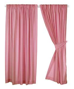 Light pink curtains for kids - No Kids Pink Plain Dyed Curtains 66 X 54 Inches Review