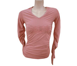 Womens Long sleeved v-neck top - CLICK FOR MORE INFORMATION