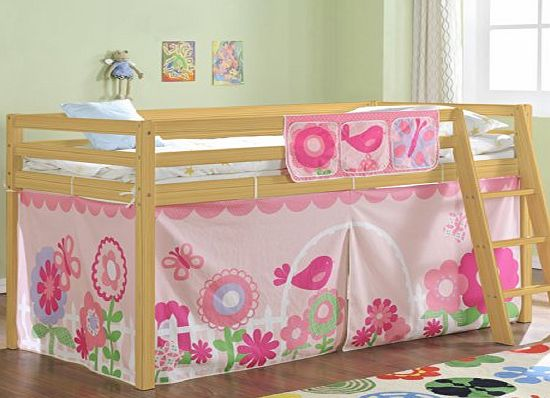 Noa And Nani Cabin Bed Mid Sleeper In Pine With Tent