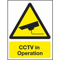 Non-Branded CCTV In Operation Sign product image