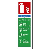 Non-Branded Dry Powder Extinguisher Sign product image
