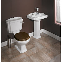 Lane Cloakroom Set White / Mahogany / Chrome