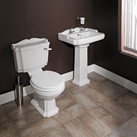 Lane Cloakroom Set White and Chrome