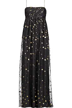 Notte by Marchesa Spotty chiffon dress