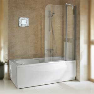 Novellini Aurora 3 Bath Shower Screen product image