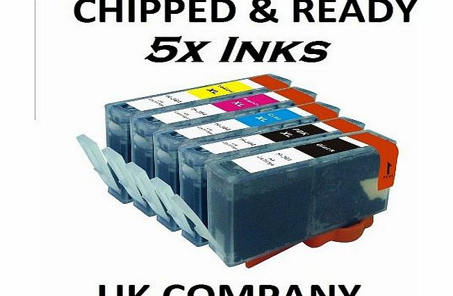 Now Ink Ltd 5x CHIPPED COMPATIBLE HP 364XL FULL SET INK CARTRIDGE HP364. B8550 C5324 C5380 C6324 C6380 D5460 C309n C309g C310a C309a C410b + ALL PRINTERS THAT TAKE HP 364 AND HAVE 5 CARTRIDGE SLOTS. A FULL SETS O product image