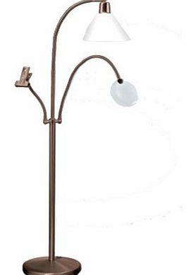3 light floor lamp for Daylight flexi vision floor lamp silver u31067