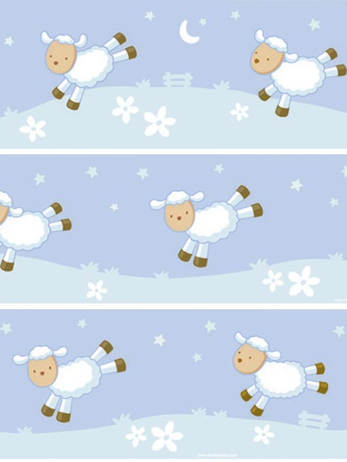 Sweet Dreams `ounting Sheep`4 Wallpaper Border Self Adhesive
