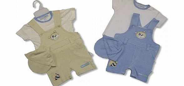 Nursery Time 3 Piece Baby Boy Clothes Set 3/6 months - Cream/Beige