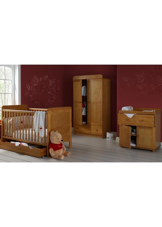 Minnie Mouse Bedroom 3 Drawer Storage Kids Wooden Box Pink: Winnie The Pooh Bed Set