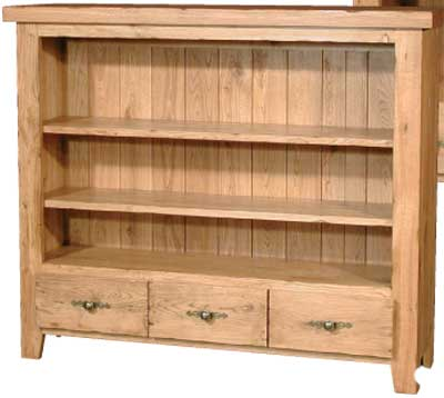 BOOKCASE LOW 40IN x 47.5IN 3 DRW COTSWOLD