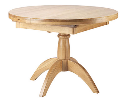 oak dining table extending 48in round tuscany oak dining table