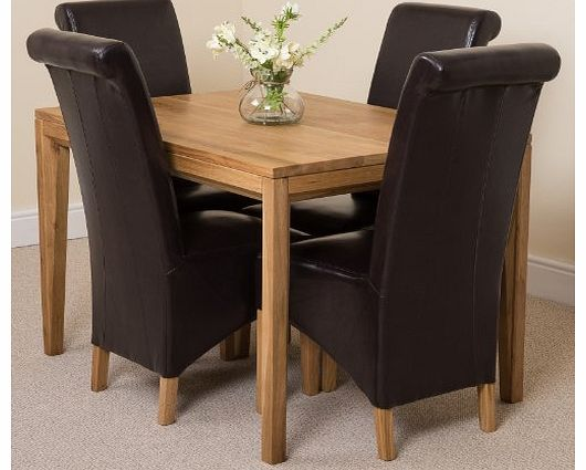 eve oak dining tables : oak furniture king bevel solid oak 120 dining room table and 4 montana dining chairs  from www.comparestoreprices.co.uk size 530 x 425 jpeg 35kB