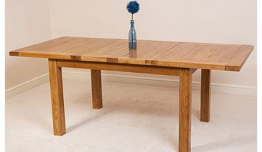 Rustic oak extending dining table - King furniture dining table ...