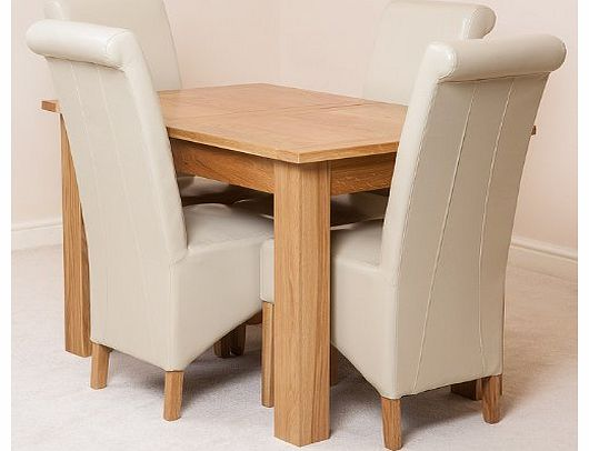 Oak dining tables oak furniture king hampton extending dining table and 4 vancouver chairs - King furniture dining table ...