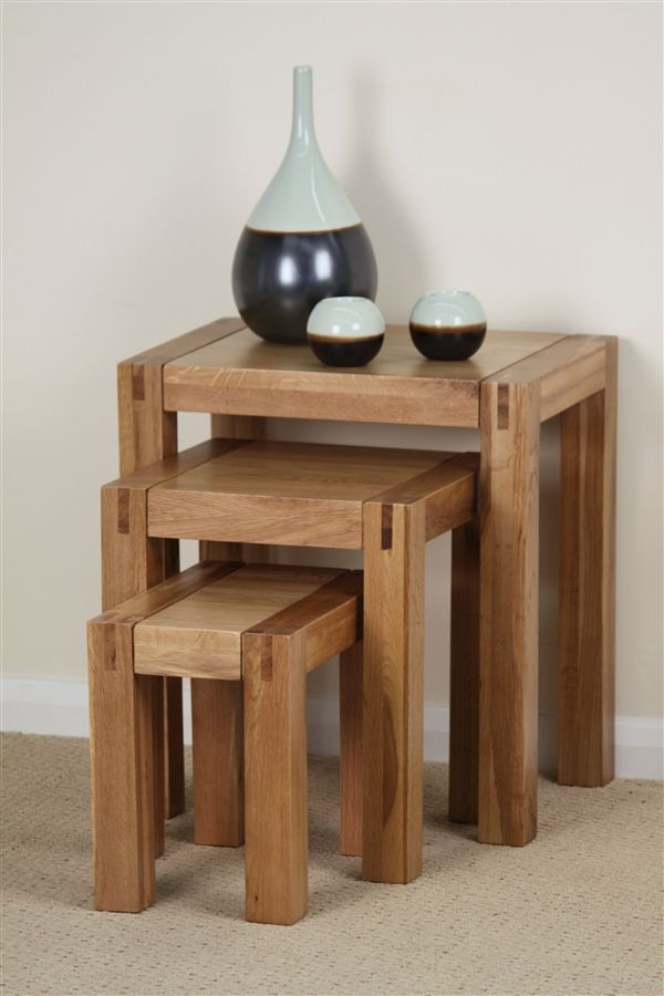 Oak Furniture Land Nest Of Tables
