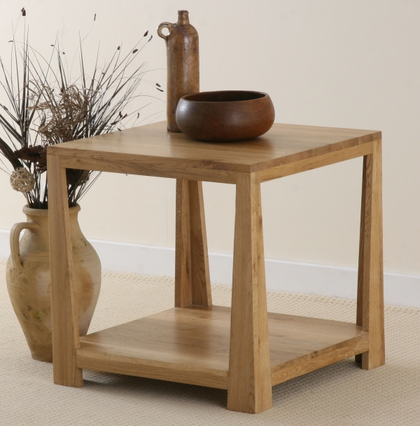 Contemporary Oak Lamp Table