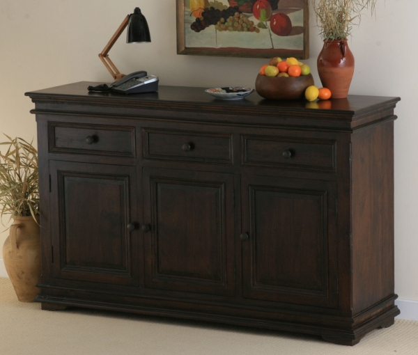 Oak Furniture Land Klassique Dark Indian Sideboard Review Compare Prices Buy Online