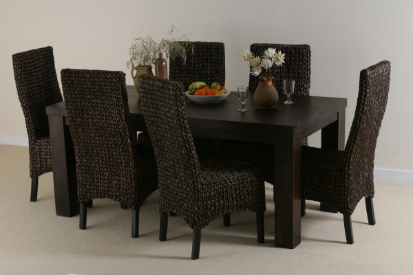 Formal Dining Room Table And Chairs Compare Prices Reviews  : oak furniture land mantis dark solid mango 6ft indian dining set from www.askhomedesign.com size 600 x 400 jpeg 166kB
