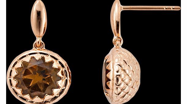 Star of Nature Earrings, Rose Gold Vermeil