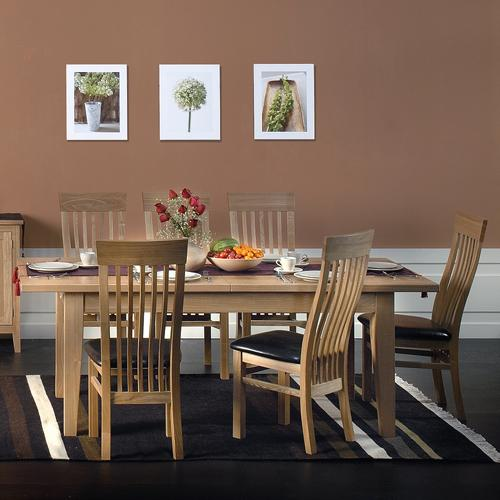 Oakleigh Furniture Oakleigh Dining Set (Extending table  6 Classic Chairs)