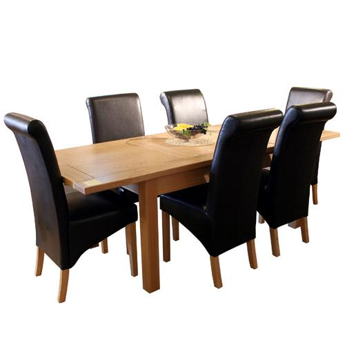 oakleigh furniture dining furniture : oakleigh furniture oakleigh dining set large extending table 6 guinness chairs  from www.comparestoreprices.co.uk size 500 x 500 jpeg 19kB