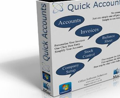 Quick Accounts Invoicing Software 2013 (No Annual Subscription Required)