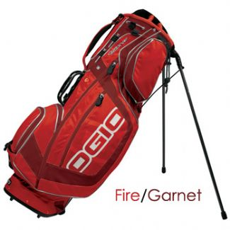 OZONE GOLF CARRY STAND BAG 2008 FIRE/GARNET