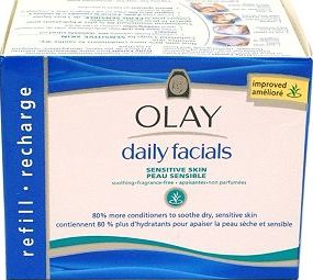 Olay, 2041[^]10020578 Daily Facials Cleansing Cloths Refill Pack