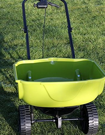 Olive Grove Large Heavy Duty Lawn Fertiliser Spreader For Medium or Large Gardens-REDUCED