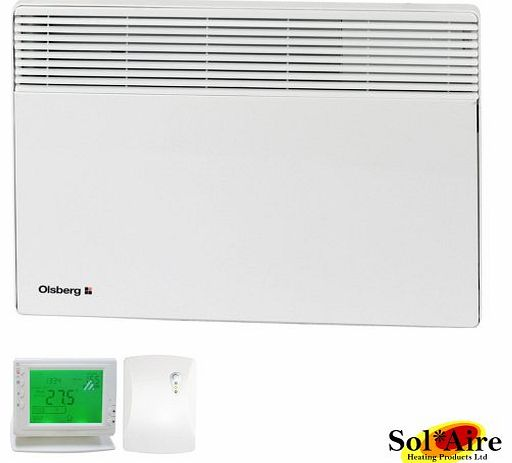 OLSBERG CORONA / CONFORT 1500 Watt Olsberg Corona Electric Panel Heater + WIRELESS TIMER - Wall Mounted Slimline Convector Radiator Bathroom / Splashproof 1500W Watts 1.5kW 1.5 Kilowatt product image