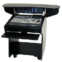 Omnirax Coda workstation designed for use with the Roland VS-2480 mixing console, with 8 space rack - CLICK FOR MORE INFORMATION