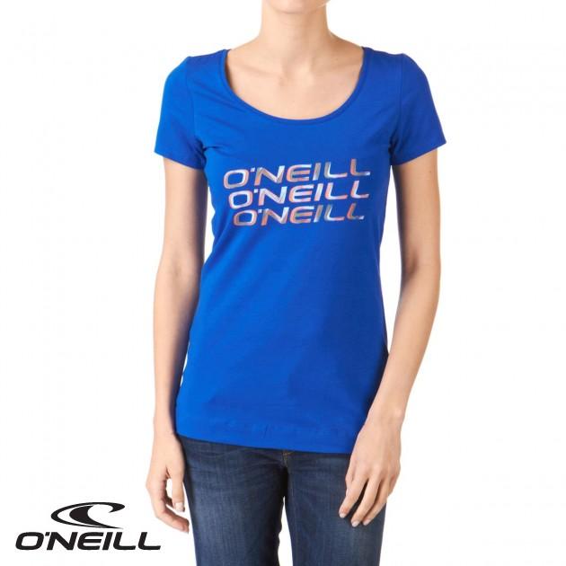 O neill womens oneill ceres t shirt ocean blue review for Ocean blue t shirt