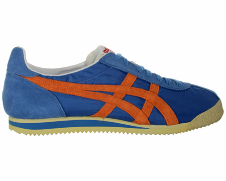Onitsuka Tiger Corsair Vintage Blue/Orange Nylon Trainers  Colourway;  Blue  Orange  Onitsuka Tiger have gone back to their 1970s catalogue to recreate one of their heritage classics in the Corsair with a Vintage aged finish. Retro running inspired s - CLICK FOR MORE INFORMATION