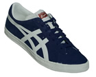 Onitsuka Tiger Fabre BL-S OG Blue/White Suede Trainers Colourway; Blue White Blue suede upper with trademark Asics Onitsuka side stripes in white. White synthetic midsole with brown outsole. FABRE is derived from the Fast Break move in basketball. Or - CLICK FOR MORE INFORMATION