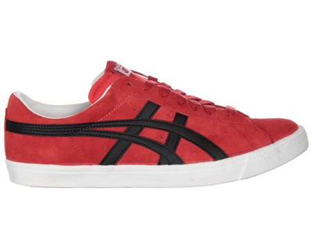 Onitsuka Tiger Fabre BL-S OG Red/Black Suede Trainers Colourway; Red Black Red suede uppers with trademark Asics Onitsuka side stripes in black leather. White synthetic midsole. FABRE is derived from the Fast Break move in basketball. Originally rele - CLICK FOR MORE INFORMATION