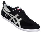 Onitsuka Tiger Mexico 66 Vulc Black/Grey Suede Trainers Colourway; Black High Rise Black suede upper with trademark Asics Onitsuka side stripes in grey. Onitsuka logo in grey below stripes. White vulcanised rubber sole unit. Thin black suede tongue w - CLICK FOR MORE INFORMATION