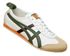 Mexico 66 White/Olive Leather