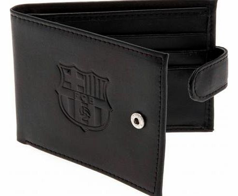 ONTRAD Limited - Football - Executive Gifts Official FC Barcelona Embossed Leather Wallet - A Great Gift / Present For Men, Boys, Sons, Husbands, Dads, Boyfriends For Christmas, Birthdays, Fathers Day, Valentines Day, Anniversaries Or Just As A product image