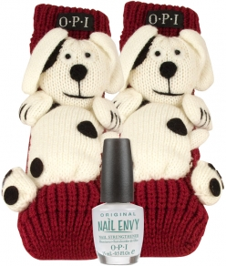 OPI PUPPY SLIPPERS and NAIL ENVY ORIGINAL GIFT SET